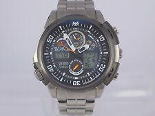 Citizen Attesa Eco-drive radio control chrono alarm Titanium watch U680 in box