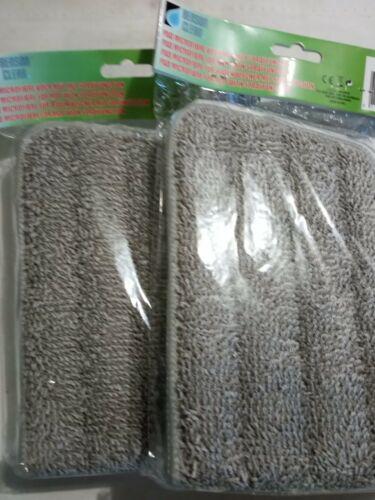 2 Wisch-Pads für Bodenwischer mit Spruehfunktion