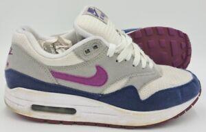 Nike-AIR-MAX-1-ID-Scarpe-Da-Ginnastica-in-Pelle-Scamosciata-Grigio-Blu-Viola-433215-997-UK5-US7-5