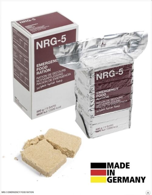 NRG Emergency Food Rations - Survival Camping High Energy Biscuits Military New