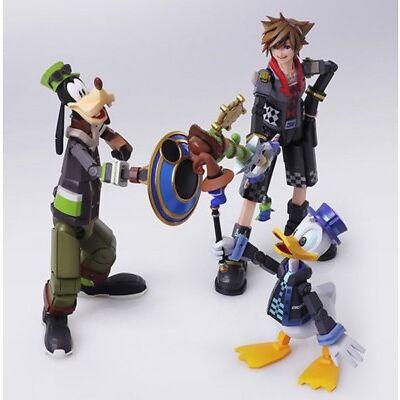 Authentic Bring Arts Kingdom Hearts Sora Donald Duck Goofy Action Figure No Box
