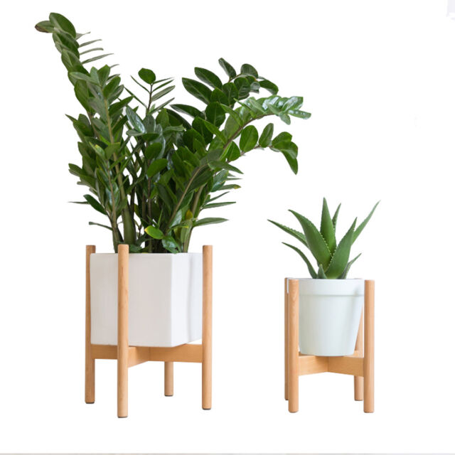 Buy Riseon Mid Century Modern Plant Stand Wood Indoor Flower Pot