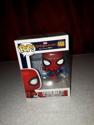 #468 Spider-Man Hero Suit Vinyl Marvel Far From Home Funko Pop