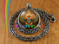 Egyptian Scarab Beetle Necklace Pendant Jewelry Charm Gift
