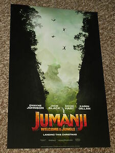 jumanji welcome to the jungle 11x17 promo movie poster ebay