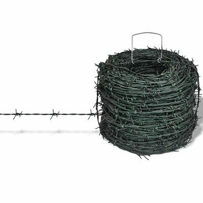 Barbed Wire Entanglement Wire Green Wire Roll 100m Home Garden Fencing Coil