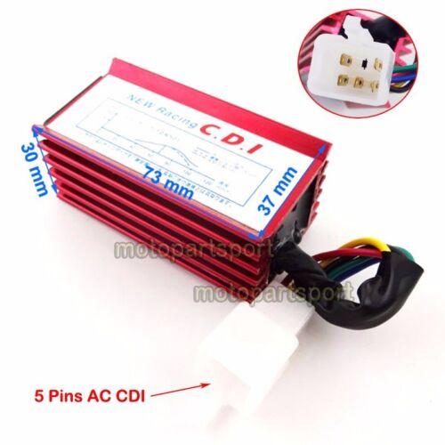 Racing Ignition Coil 5 Pin AC CDI For Honda XR50 CRF50 Pit Dirt Motor Trail Bike