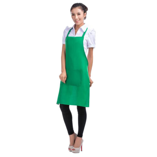 Fashion Womens Kitchen Restaurant Bib Cooking Aprons Pockets Bowknot 8 Color