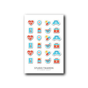 Hairdresser Functional Beauty Icons Haircut Planner Stickers