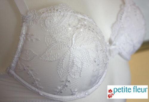 Nuevo sueño blanco hermoso push-up sujetador bordado punta 65 70 75 C Petite Fleur 708542