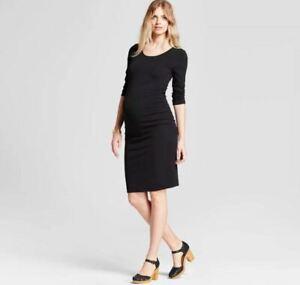 Maternity-3-4-Sleeve-Shirred-T-Shirt-Dress-Isabel-Maternity-by-Ingrid-amp-Isabel