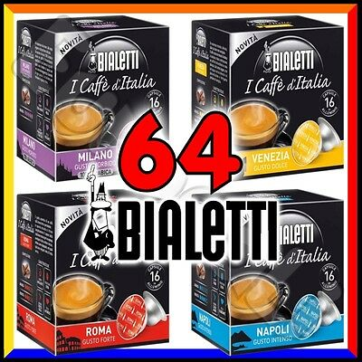 64 Capsule caffè BIALETTI A SCELTA cialde alluminio espresso Mokona Tazzona Diva