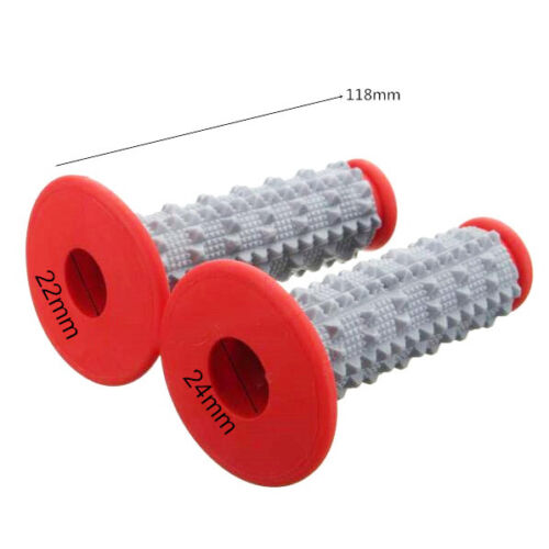 SUZUKI Rubber Hand Grips Handlebar Handgrips 4 RMX450 RM85 DRZ250 MX TRAIL BIKE
