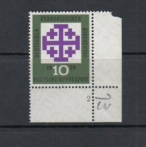 BRD-Mi-Nr-314-FN-Formnummer-Ecke-aus-der-Bogenecke-4-postfrisch