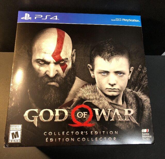 God of War Collector's Edition [ Statue + STEELBOOK + Bonus DLC ] (PS4) NEW