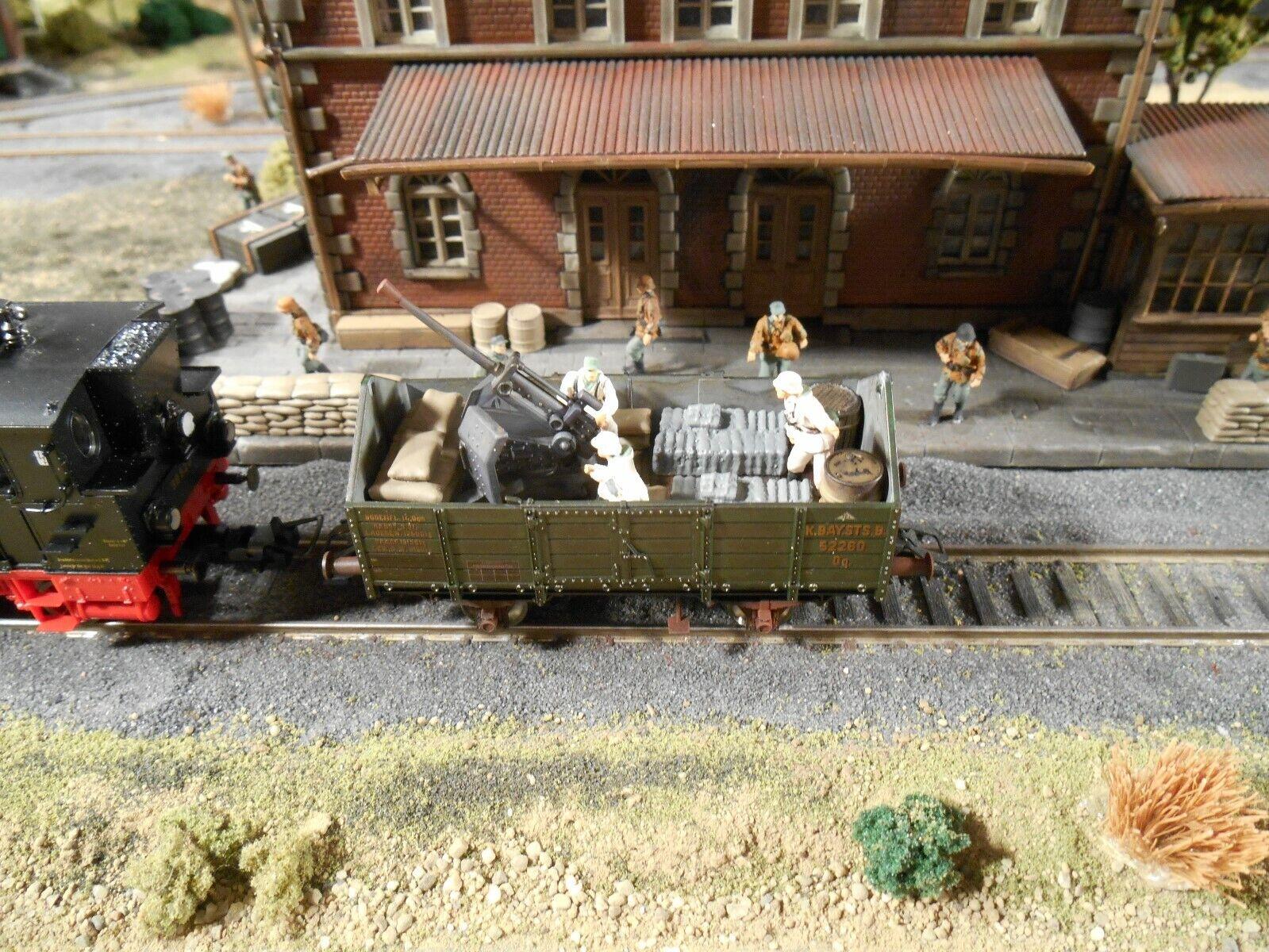 Ho Roco Minitanks 9th Panzer Ejército Antiaérea Coche A909 Pintado a Mano
