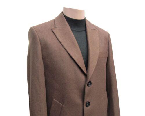 ginocchio uomo 58 al Cappotto Cammello marrone Elegante da Gr aB4qxwHC