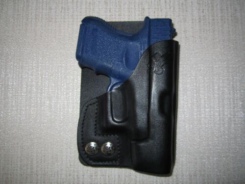 FITS GLOCK 26 /& 27 /& 33 formed leather LEFT HAND wallet and pocket holster
