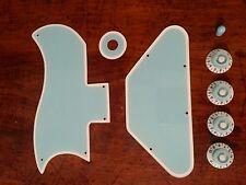 Half Pickguard Set Fits Gibson SG.. Baby Blue/White.. JAT CUSTOM GUITAR PARTS