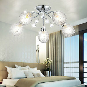 15W LED Wohnzimmer Beleuchtung Luster Decken Lampe 5 Kugeln Luxus ...