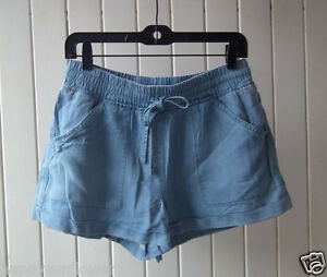 New-Country-Road-Women-039-s-Ladies-Chambray-Blue-Short-size-4-6-8-10-12-14