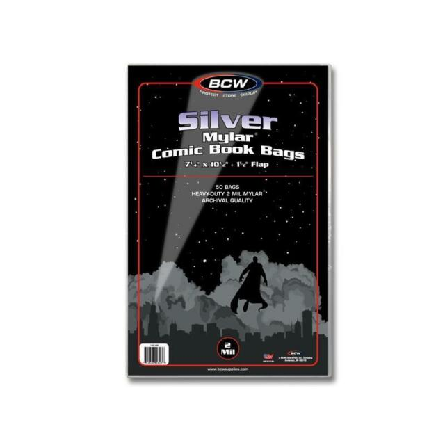 Case 500 BCW SILVER COMIC MYLAR ARCHIVALS - 2 MIL