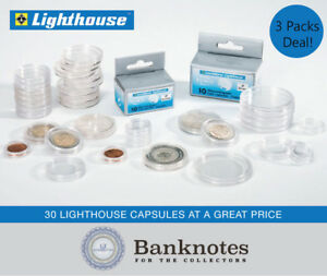 Lighthouse Coin Capsules Full Box Of 100-39mm
