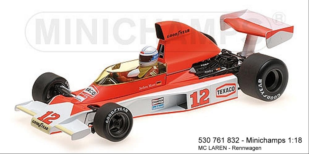 MINICHAMPS 530761832-McLaren Ford m23 – Jochen Mass – South African GP 1976