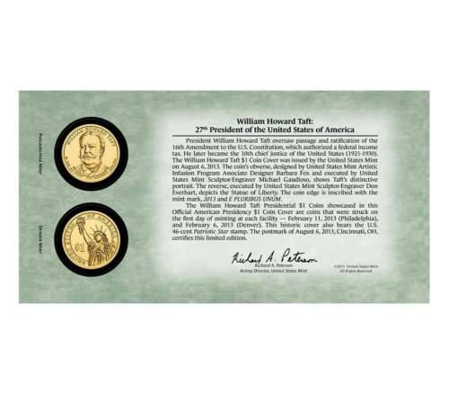 2013 William TAFT Presidential Dollar First Day Cover SEALED P47 ** Ships FREE