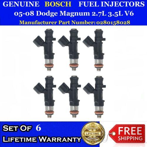 6x Genuine Bosch Fuel Injectors for 05-08 Dodge Magnum 2.7L 3.5L V6 #0280158028