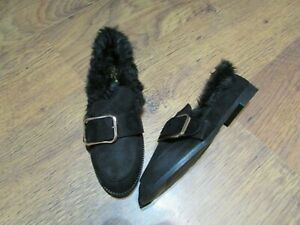 NEW-IN-BOX-FAUX-SUEDE-FLEECE-LINED-LOAFERS-SIZE-5-SERGIO-TODZI