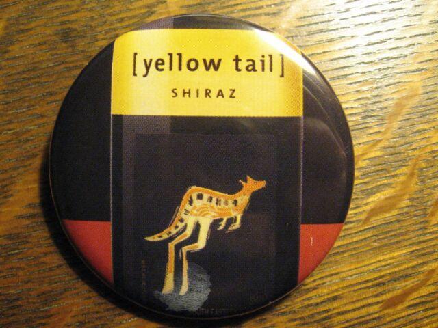 Yellow Tail Shiraz Red Wine Label Australia Advertisement Pocket Lipstick Mirror