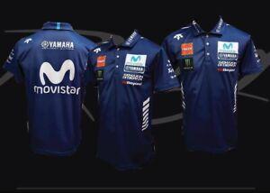 Movistar Motogp Biker Racing Team Polo Shirt Ebay