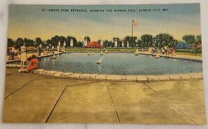 Swope Park Entrance Showing the Mirror Pool Kansas City, MO