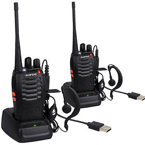 Pcs Walkie Talkie Long Range Way Radio CH BFS UHF - Talkie walkie longue portée