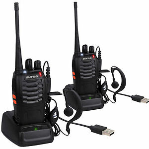 Pcs Walkie Talkie Long Range Way Radio CH BFS UHF - Talkie walkie longue portée