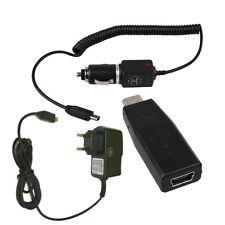 Ladegerät f. TomTom One V2 + KFZ Ladekabel + Adapter mini USB-Buchse