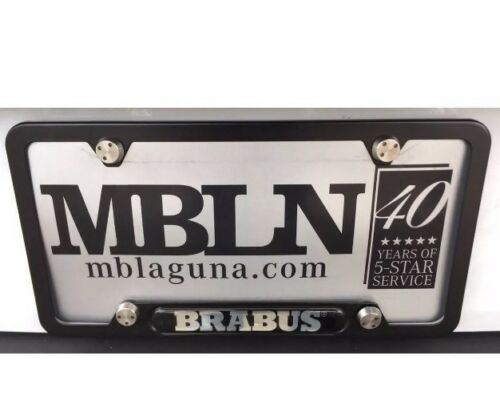 """Brabus Logo License Plate Frame Made By Brabus In Germany /""""Black/""""Genuine One Pc"""