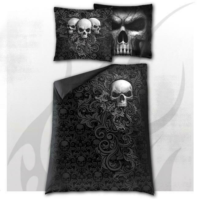 Spiral Direct Skull Scroll Single Duvet Cover
