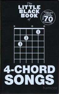Details about The Little Black Book of 4-Chord Songs Guitar Chords & Lyrics  Music Songbook