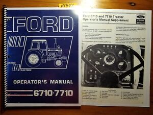 ford 6710 7710 tractor 1981 85 owner s operator s manual se4028 rh ebay com Vehicle Owner's Manual Ford Focus Owners Manual