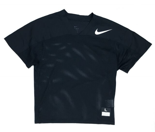1769ee8d4 New Nike Mesh Flag Football Jersey Youth Boy s Large Black 854859 Dri-Fit