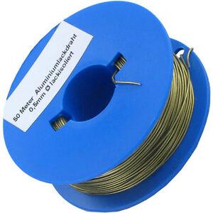 50-m-Aluminium-Draht-lackisoliert-0-5mm-superleicht