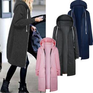 d604bd77130 Warm Winter Women Lady Long Sleeve Hooded Cardigan Zip Up Jacket ...