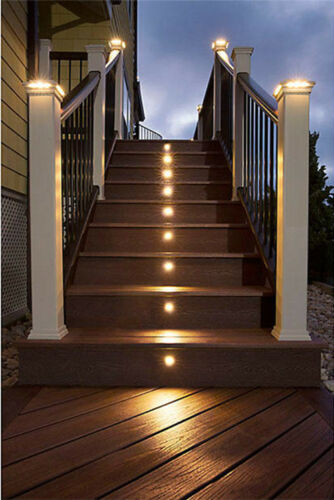 30Pcs 61mm 1.5W 12V IP67 Yard Path Stair LED Deck Rail Inground Recessed Lights