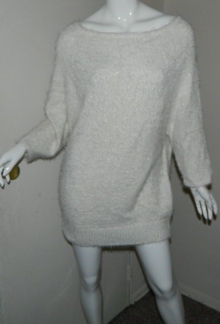 New Women Bebe Ivory gold 3 3 3 4 - Long Sleeve Casual Work Party Sweater Size L ef5652