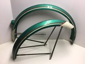 "Vintage Roadmaster CWC Bicycle 26"" Balloon Tire Fenders Green"