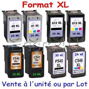 Cartouche-d-039-encre-compat-Canon-PG40-CL41-PG512-CL513-PG540-CL541-PG545-CL546-XL
