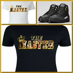 LADIES   WOMENS TEE SHIRT to match the NIKE JORDAN XII 12 MASTERS ... ba908c6fa9