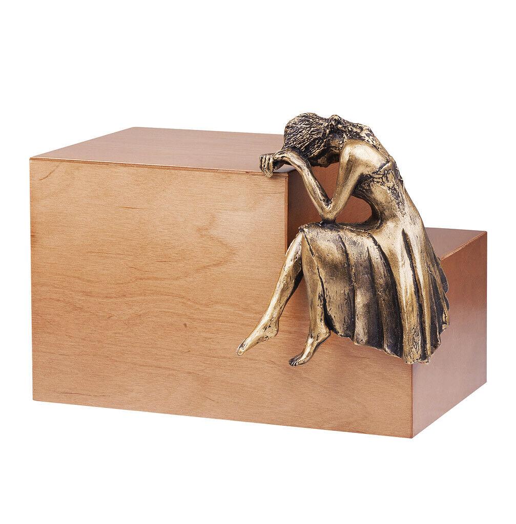 Sculpture Ange Urne Nostalgie de Crémation Funérailles pour Adulte Cremains